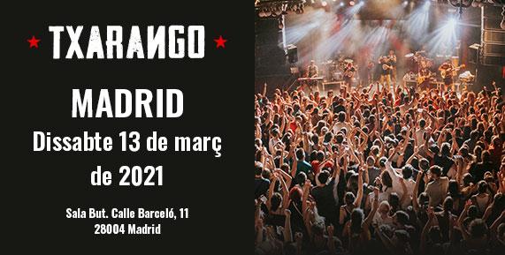 Concert de Txarango a Madrid 13 març 2021