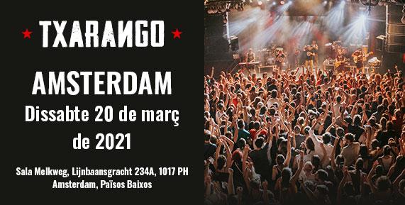 Concert de Txarango a Amsterdam el 20 de març de 2021