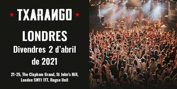 Concert de Txarango a Londres el 2 d'abril de 2021
